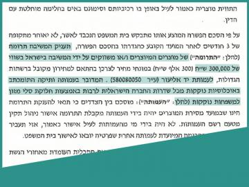 מרתק: בית המשפט הורה לחברת המזון לתרום ליד אליעזר